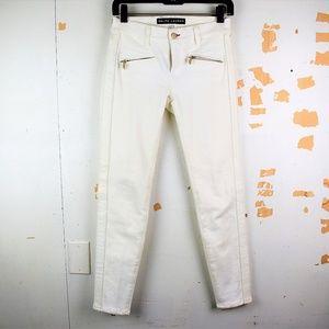 Ralph Lauren Black Label Off-white Skinny Jeans
